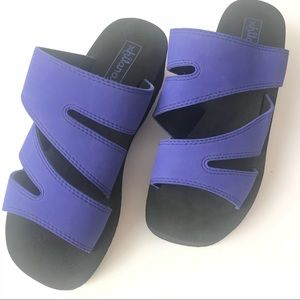 Retro 90's Neon Purple Platform Foam Sandal Sz 7